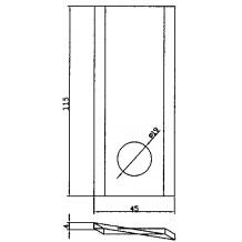 Nůž rotační 154-080- Levý
